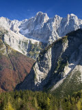 Skrlatica Mountain from Visic Pass, Triglav National Park, Julian Alps, Slovenia, Europe Photographic Print by Edwardes Guy