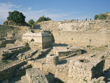Ancient Ruins at Archaeological Site, Troy, Anatolia, Turkey Minor, Eurasia Photographic Print by Wilson Ken