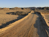 Dirt Road, Nubian Desert, Sudan, Africa Photographic Print by Groenendijk Peter