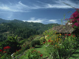 Landscape of Hills at Chichicastenango in Guatemala, Central America Photographic Print by Strachan James