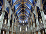 Cathedral and Basilica of Notre Dame Built Between 1839 and 1885, Ottawa, Ontario, Canada Photographic Print by De Mann Jean-Pierre
