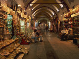 Interior of the Grand Bazaar in Istanbul, Turkey, Europe Photographic Print by Groenendijk Peter