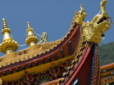 Roof Ornament, Nanwu Temple, Kangding, Sichuan, China Photographic Print by Porteous Rod