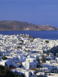 White Houses and Windmills, Mykonos, Cyclades Islands, Greece Photographic Print by Merten Hans Peter