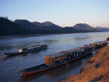 View of Mekong River at Sunset, Luang Prabang, Laos, Indochina, Southeast Asia Photographic Print by Wright Alison