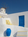 Windmill in Oia, Santorini, Cyclades, Greek Islands, Greece, Europe Photographic Print by Papadopoulos Sakis