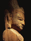 Wooden Statue of Lokanatha Dating from the 12th or 13th Century, Bagan Museum, Bagan, Myanmar Photographic Print by Strachan James
