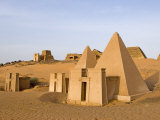 Pyramids of Meroe, Sudan, Africa Photographic Print by De Mann Jean-Pierre