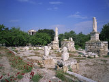 Ancient Agora with Temple of Hephaestos, Athens, Greece, Europe Photographic Print by Merten Hans Peter