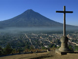 View Towards Agua Volcano, Antigua, Guatemala, Central America Photographic Print by Strachan James