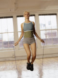 Women Working Out with Jump Rope in Fitness Studio, New York, New York, USA Photographic Print by Chris Trotman
