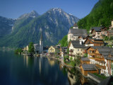 Hallstatt Beside the Lake, in Morning Light, Near Salzburg in the Salzkammergut, Austria Photographic Print