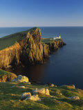 Neist Point Lighthouse, Glendale, Isle of Skye, Highland Region, Scotland, United Kingdom, Europe Photographic Print by Edwardes Guy