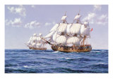 Duke and Duchess Premium Giclee Print by Montague Dawson