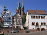 Market Square with the Marien Church on the Town Skyline in Gelnhausen, Hesse, Germany, Europe Photographic Print by Merten Hans Peter