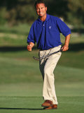 Male Golfer Reacts to a Successful Put Photographic Print by Chris Trotman