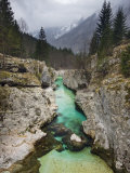 Soca River, Soca Valley, Triglav National Park, Julian Alps, Slovenia, Europe Photographic Print by Edwardes Guy