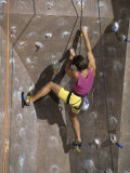 Man Wall Climbing Indoors Photographic Print