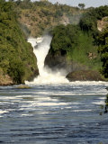 Murchison Falls, Victoria Nile, Uganda, East Africa, Africa Photographic Print by Groenendijk Peter