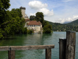 Chateau at Duingt, Lake Annecy, Annecy, Rhone Alpes, France, Europe Photographic Print by Richardson Peter