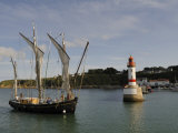 Traditional Sailing Vessel, Port Tudy, Ile De Groix, Brittany, France, Europe Photographic Print by Groenendijk Peter
