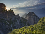 Summit of the Mangrt Pass at Sunset, Border Between Slovenia and Italy, Europe Photographic Print by Edwardes Guy