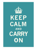 Keep Calm and Carry On Premium Giclee Print by  The Vintage Collection