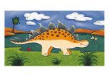 Steggy the Stegosaurus Giclee-tryk i høj kvalitet af Sophie Harding