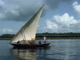 Latine Rig Fishing Boat, Kenya, East Africa, Africa Photographic Print