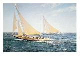 The Greatest Race Premium Giclee-trykk av Montague Dawson