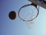Basketball and Hoop Photographic Print by Paul Sutton