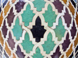 Tiled Mosaic Inside Bou Inania Medersa, Fez, Morocco, North Africa, Africa Photographic Print by Edwardes Guy