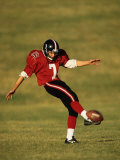 Football Kicker in Action Photographic Print