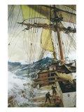 Rising Wind Giclee-tryk i høj kvalitet af Montague Dawson