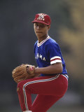 Young Baseball Pitcher in Action Photographic Print