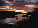 Queen's View at Sunset, Loch Tummel, Perthshire, Scotland, United Kingdom, Europe Photographic Print by Edwardes Guy