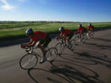 Road Cycling Team in Action Photographie