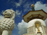 Buddhist Peace Pagoda, Milton Keynes, Buckinghamshire, England, United Kingdom, Europe Photographie par Strachan James