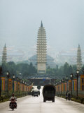 Three Pagodas, Dali, Yunnan, China Photographic Print by Porteous Rod