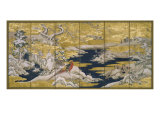 Japanese Screen II Premium Giclee Print