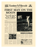 First Man on the Moon Premium Giclée-tryk af  The Vintage Collection