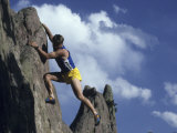 Man Rock Climbing Photographic Print