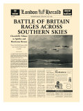 Battle of Britain Rages Premium Giclee Print by  The Vintage Collection