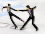 Blurred Action of Pairs Figure Skaters, Torino, Italy Photographic Print by Chris Trotman