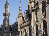 Town Hall, Markt, Bruges, Belgium, Europe Photographic Print by White Gary