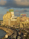 Corniche in Evening Light, Alexandria, Egypt, North Africa, Africa Photographic Print by Strachan James