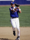 Baseball Player in Action Photographic Print