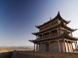 Six Hundred Year Old Tower, Jiayuguan Fort, Jiayuguan, Gansu, China Photographic Print by Porteous Rod