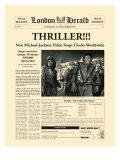 Thriller!!! Premium Giclée-tryk af  The Vintage Collection