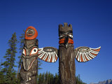 Totem Poles, Jasper National Park, Near Jasper, Alberta, Canada, North America Photographic Print by Merten Hans Peter